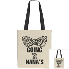 Going To Nanas Zebra Bow