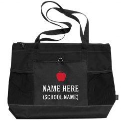 Custom Teacher Bag With Apple