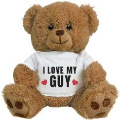 I Love My Guy Cute Bear Gift