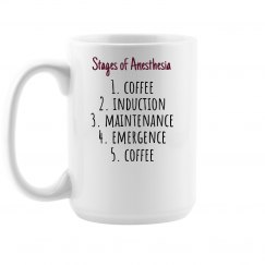 Coffee Mug- Stages of Anesthesia