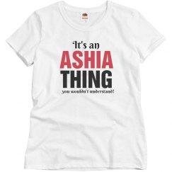 It's an Ashia thing