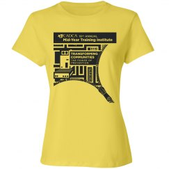 2019 Mid- Year Training Ladies T-shirt- Yellow