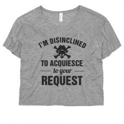 Disinclined To Acquiesce Pirate