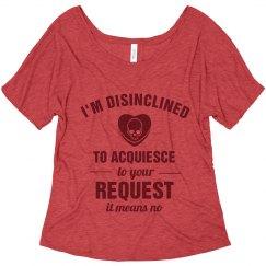 Disinclined To Acquiesce Feminist