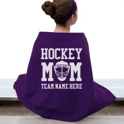 Custom Hockey Mom Blanket