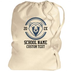 Custom School & Mascot Laundry Bags