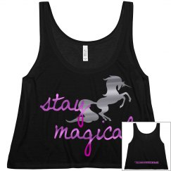 Stay Magical ladies tank - black