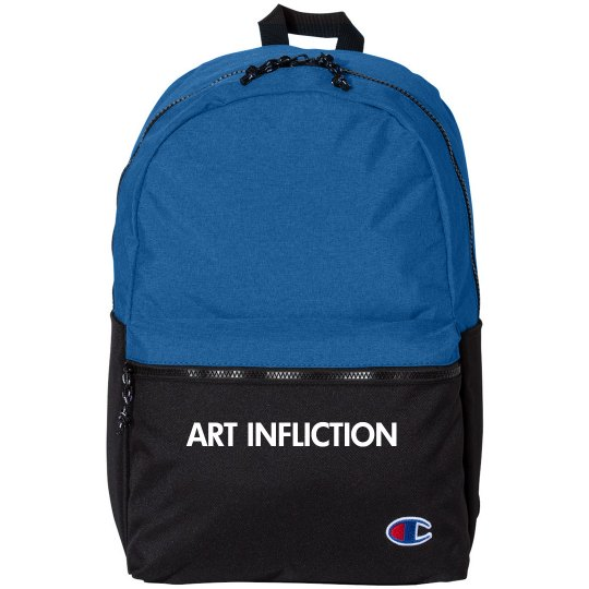 A.I. Blue&B 21L Script Backpack, presented by Champion