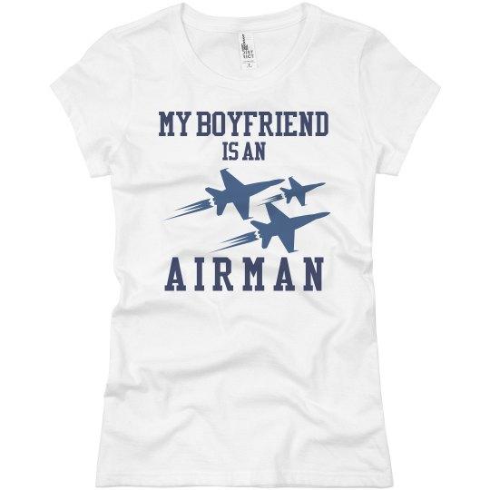 Airman Girlfriend Plane Tee