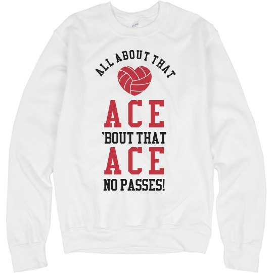 All About That Ace Volleyball Sweater
