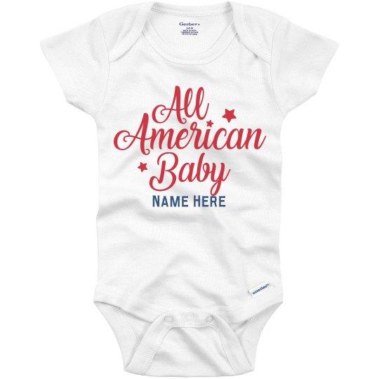 All American Baby Custom Onesie