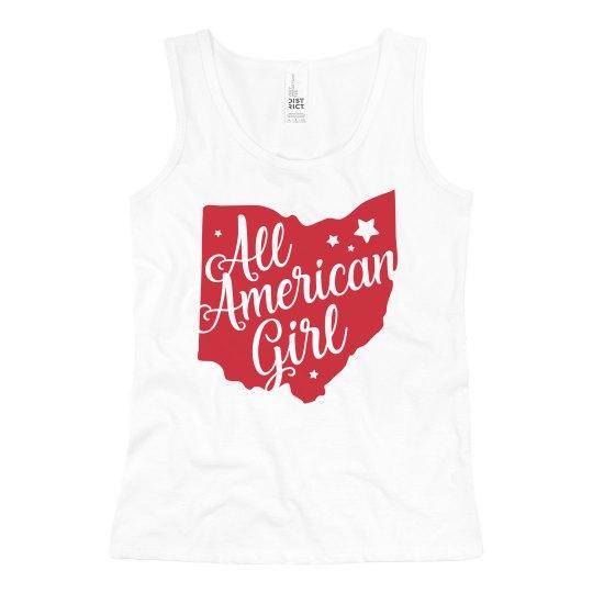 All American Girl 4th of July Girl's Cute Tank