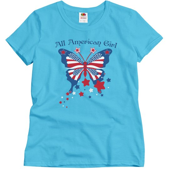 All American Girl Butterfly Tee2