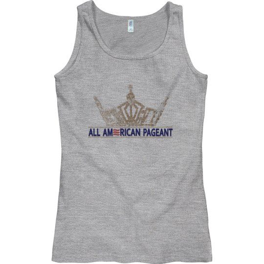 All American Pageant Tank Top Grey