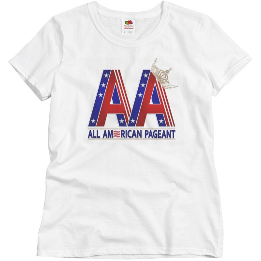 All American Pageants Ladies T-Shirt