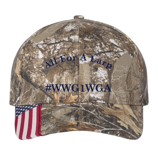 """All For A Larp"" WWG1WA Camoflauge Hat / Cap"