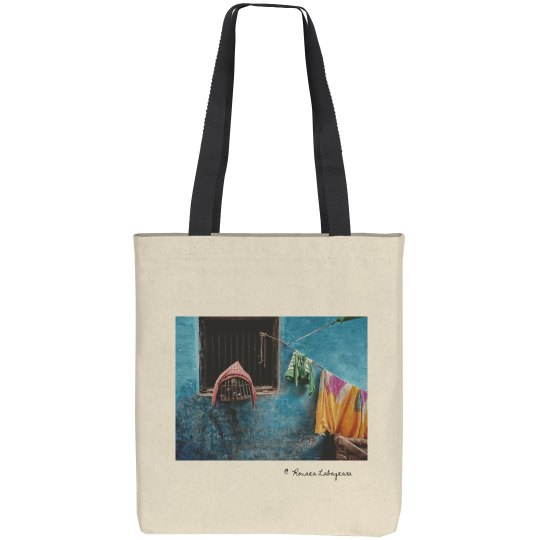 Alley in Varanasi (tote bag)
