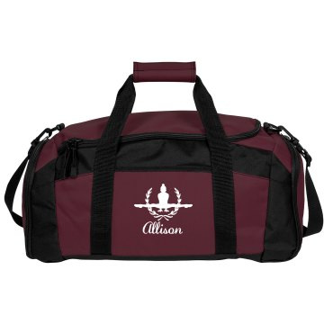 Allison. Gymnastics bag