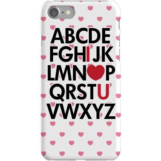 Alphabet I Heart You