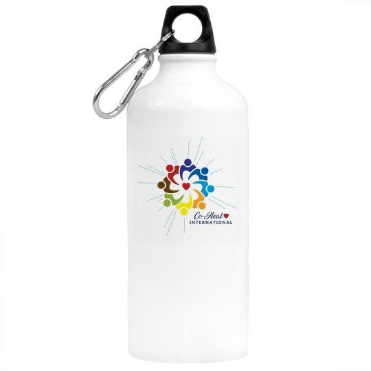 "Aluminum Water Bottle  ""Love Heals"""