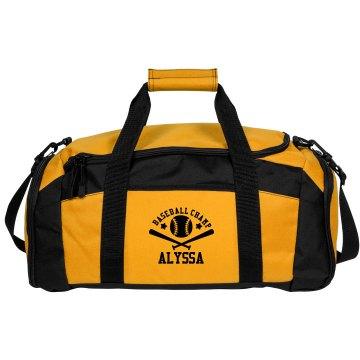 Alyssa. Baseball bag