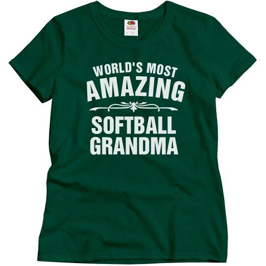 Amazing softball Grandma