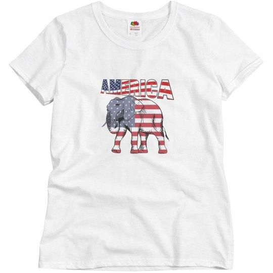 America Womens Tee