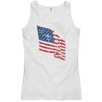 American Flag Shirt Clothing Womens Racerback Tank Top