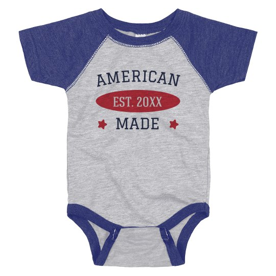 American Made Custom July 4th Baby