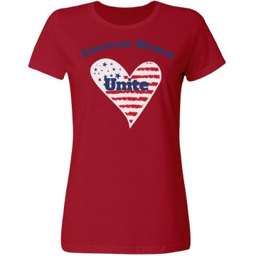 American Women Unite - Ladies fitted t-shirt