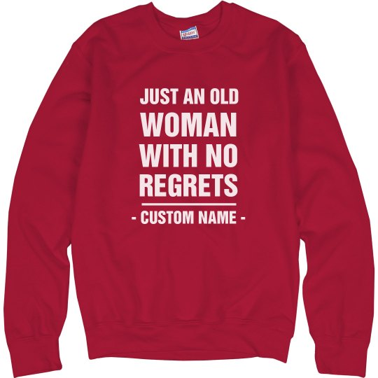 An Old Woman With No Regrets Red
