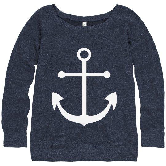 Anchor Slouchy Sweatshirt
