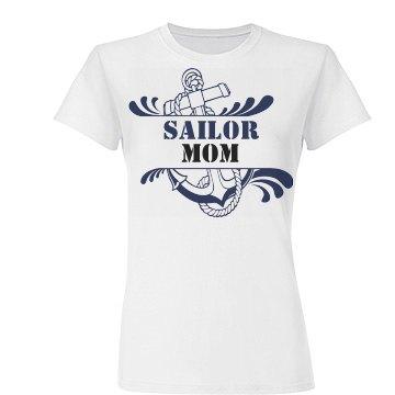 Anchor Splash Navy Mom