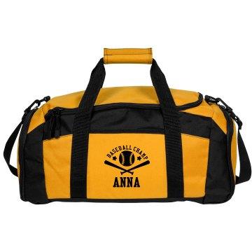 Anna. Baseball bag