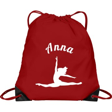 Anna pull string dance bag