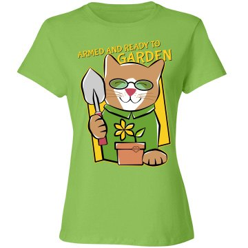 Armed and Ready to Garden Kitten