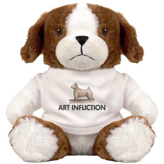 Art Infliction Dog Stuffed Animal
