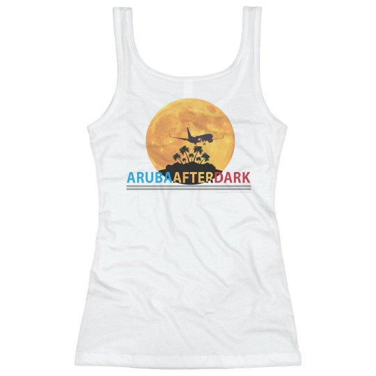Aruba After Dark By KAD | Womens Basic Tank Back Logo