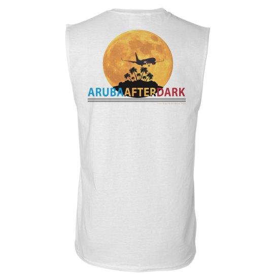 Aruba After Dark Excl By KAD   Mens Sleeveless Bck Logo