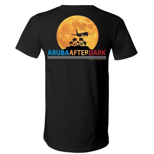 Aruba After Dark Excl By KAD | Mens V-Neck Back Logo