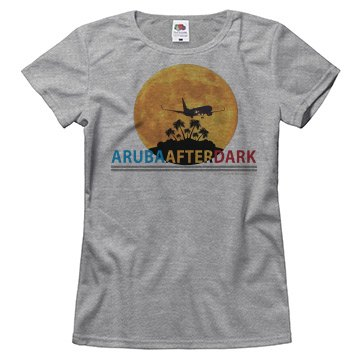Aruba After Dark Excl By KAD | Womens Crew Neck Basic T