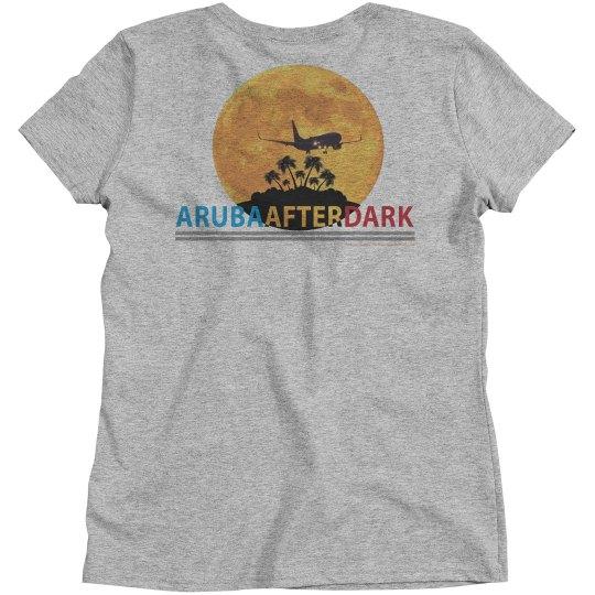 Aruba After Dark Excl By KAD | Womens CrewNk Bsc BKLogo