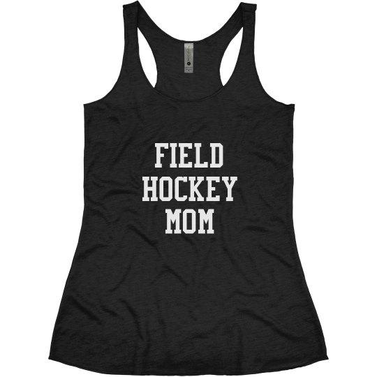 Athletic Text Field Hockey Mom