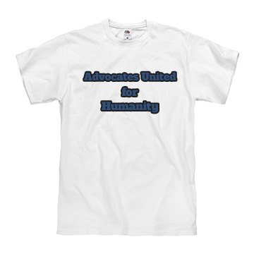 AU4H Blue and White Unisex Tee