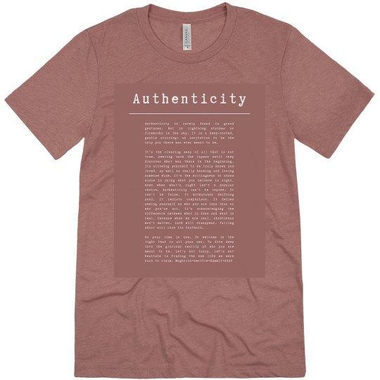 Authenticity mauve pink