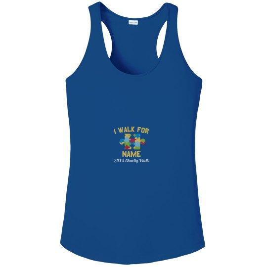 Autism Custom Charity Walk Tank