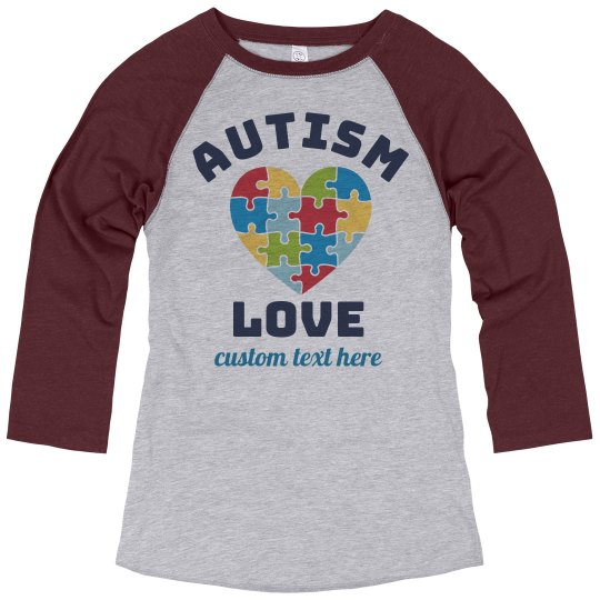 Autism Love Heart Raglan
