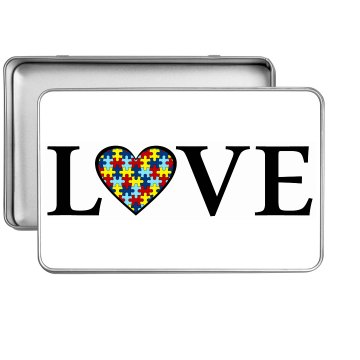 Autism LOVE Tin (Rectangle)