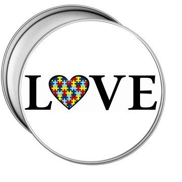 Autism LOVE Tin (Round)