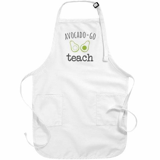 Avocado-Go Teach Apron